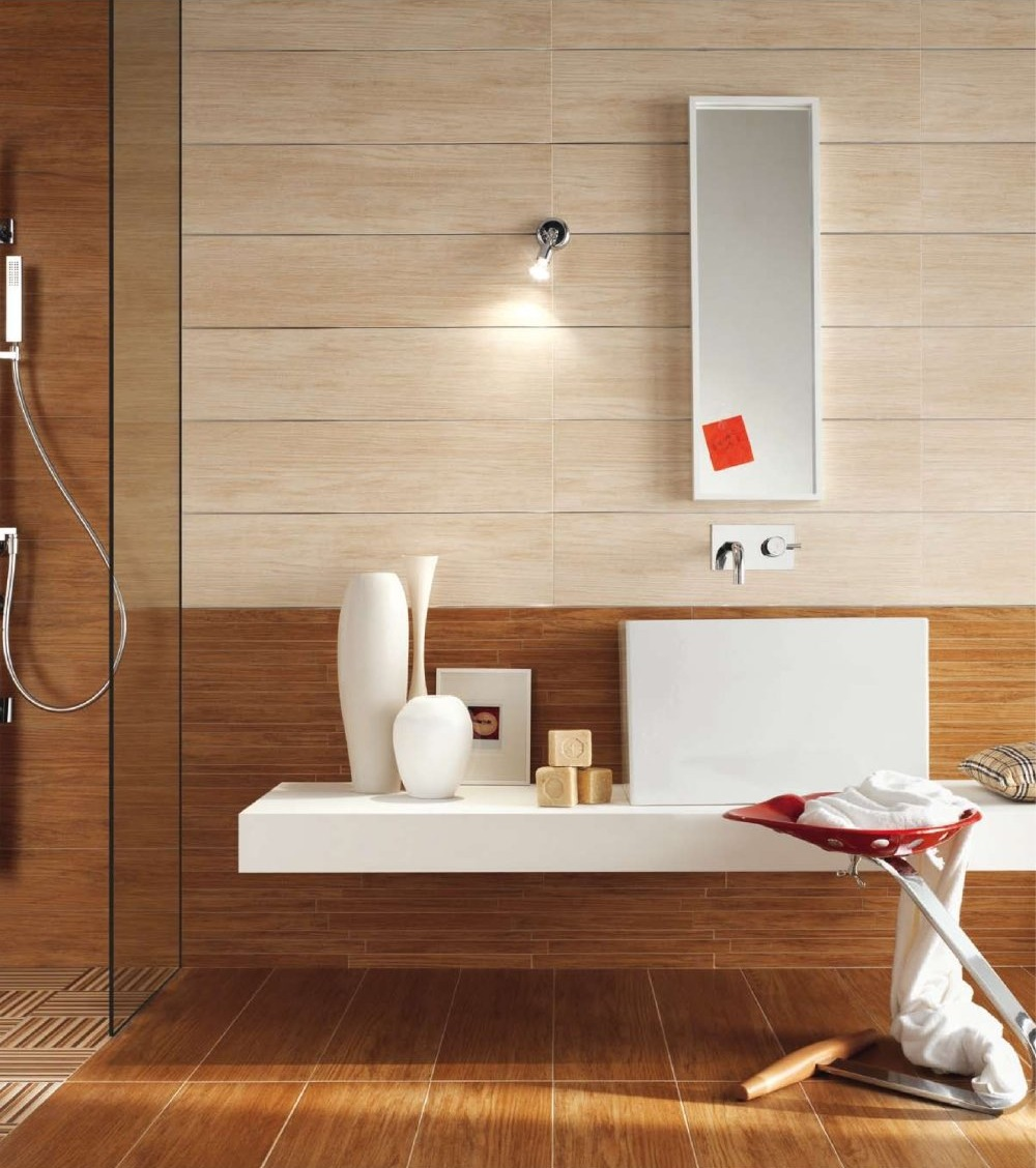Wooden floors and ceilings for for Wood floor bathroom